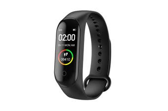 M4 Smart Watch Sports Heart Rate Fitness Tracker Motion - Black (AU Stock)