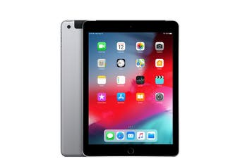 iPad 6th Gen 32GB Wifi + Cellular - Space Grey - Unlocked & Refurbished - Grade A