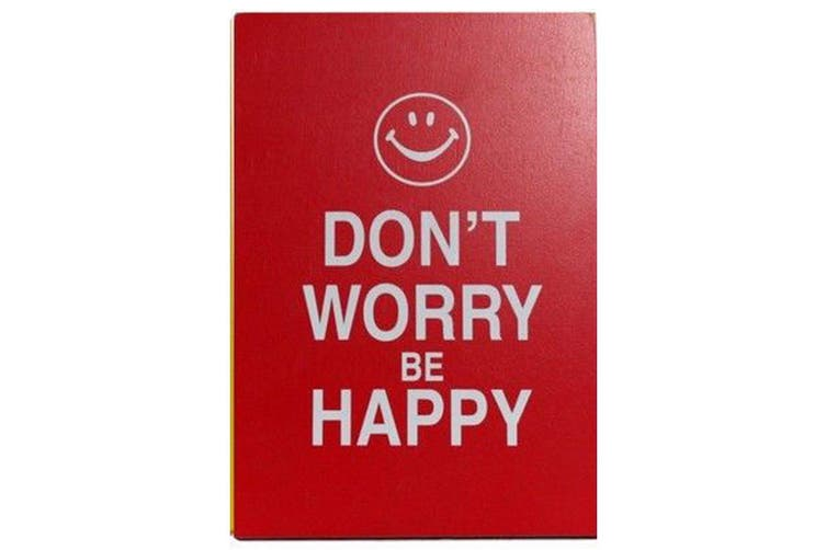 Wooden Standing Hanging Wall Desk Plaque Saying Quotes Home Smile Happy Shoes Design Don T Worry Be Happy Matt Blatt