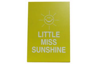 Wooden Standing Hanging Wall Desk Plaque Saying Quotes - Home Smile Happy Shoes [Design: Little Miss Sunshine]
