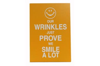 Wooden Standing Hanging Wall Desk Plaque Saying Quotes - Home Smile Happy Shoes [Design: Wrinkles]