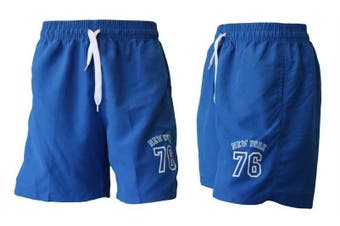 Men's Casual Training Running Jogging Gym Sport Shorts  York 76 (B) -Blue