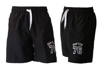 Men's Casual Training Running Jogging Gym Sport Shorts  York 76 (B) - Black