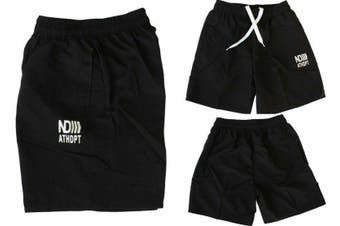 Men's Casual Training Running Jogging Gym Sport Boardies Beach Surf  Shorts -Black