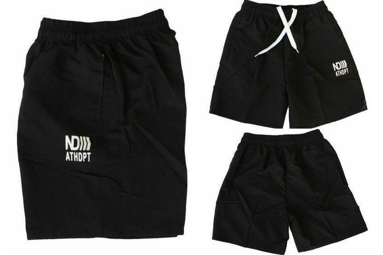 Men's Casual Training Running Jogging Gym Sport Boardies Beach Surf  Shorts -Black [Size:30]