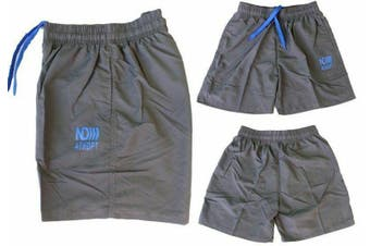 Men's Casual Training Running Jogging Gym Sport Boardies Beach Surf  Shorts -Dark Grey
