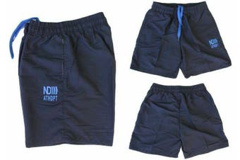 Men's Casual Training Running Jogging Gym Sport Boardies Beach Surf  Shorts -Navy