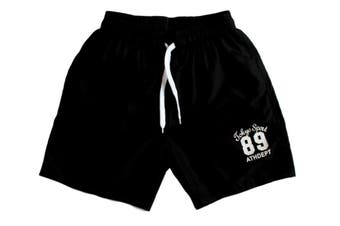MEN'S CASUAL TRAINING RUNNING JOGGING GYM SPORT SHORTS TOKYO 89 -Black