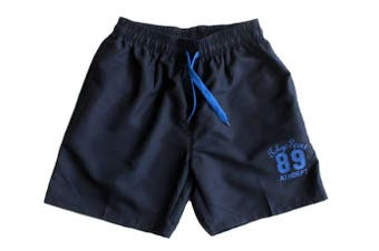 MEN'S CASUAL TRAINING RUNNING JOGGING GYM SPORT SHORTS TOKYO 89 -Navy