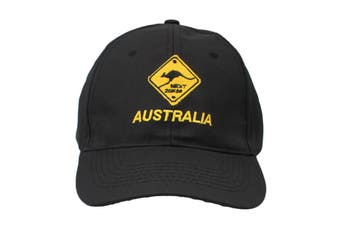 Mens Cap Unisex Hats Baseball Cotton Australia Day Australian Flag Souvenir [Design:  Road Sign Black A]