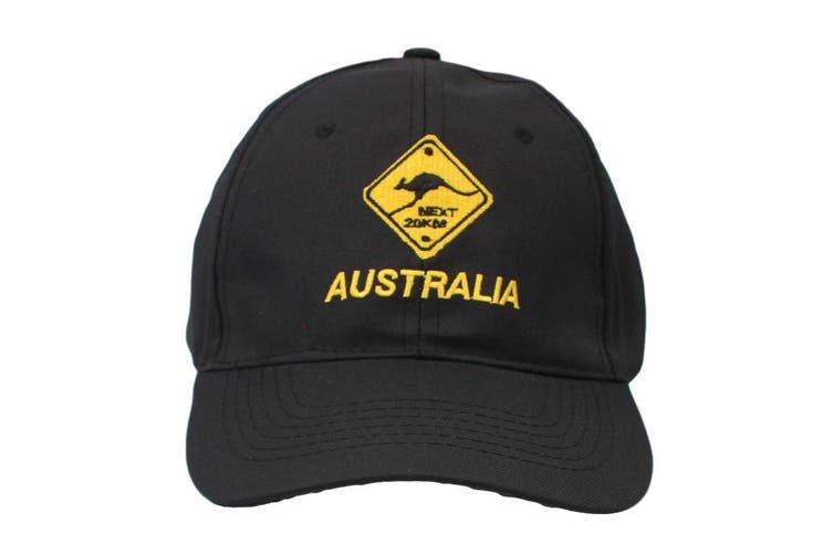 Mens Cap Unisex Hats Baseball Cotton Australia Day Australian Flag Souvenir [Design:  Road Sign Black A]