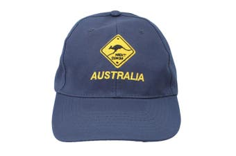 Mens Cap Unisex Hats Baseball Cotton Australia Day Australian Flag Souvenir [Design:  Road Sign Navy]