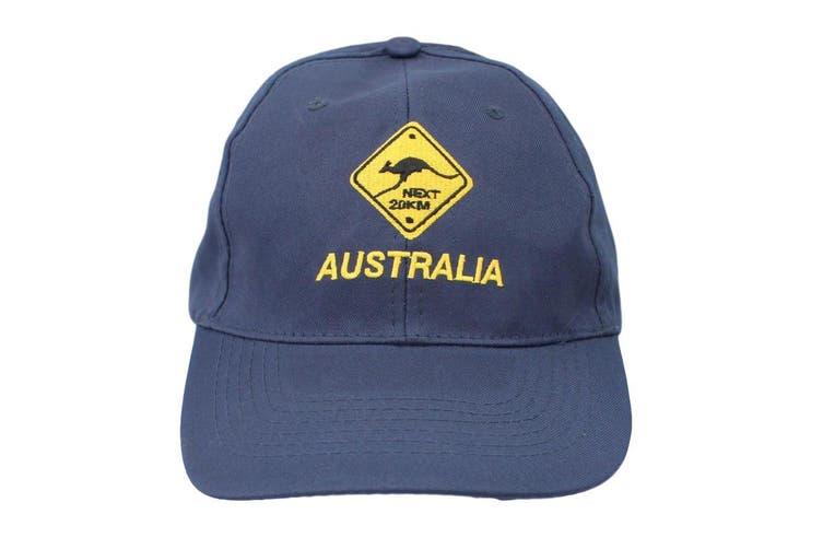 Mens Cap Unisex Hats Baseball Cotton Australia Day Australian Flag Souvenir [Design:  Road Sign Navy]