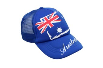 Mens Cap Unisex Hats Baseball Cotton Australia Day Australian Flag Souvenir [Design: Flag Mesh]