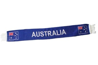 NEW Australian Flag Souvenir Knitted Scarf Australia Day Party Sports Cricket