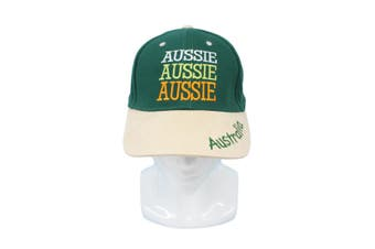 Adults Australia Day Caps Cotton Hats Summer Australian Souvenir ANZAC Day Gift [Size: One Size] [Design: Aussie Green Cap (Cotton)]