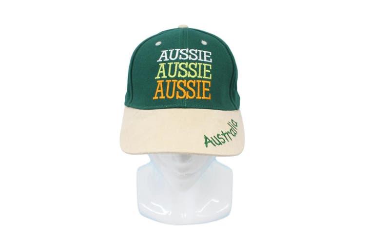Adults Australia Day Caps Cotton Hats Summer Australian Souvenir ANZAC Day Gift [Size: One Size] [Design: Aussie Green Cap (Cotton)]
