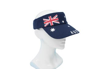 Adults Australia Day Caps Cotton Hats Summer Australian Souvenir ANZAC Day Gift [Size: One Size] [Design: Flag Sunvisor (Cotton)]