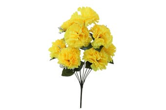 Artificial Fake Flowers Bouquet Greenery Foliage Leaf Roses Wedding Decor[Design: Carnation (Yellow)]