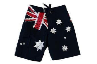 Kids Boys Board Shorts Australian Australia Day Souvenir Beach Shorts Flag
