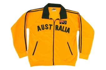 Adult Zip-up Jacket Jumper for Australia Day Souvenir  - Green & Gold