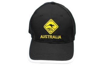 Mens Cap Unisex Hats Baseball Cotton Australia Day Australian Flag Souvenir [Design:  Road Sign Black B]
