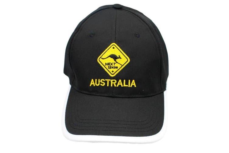 Mens Cap Unisex Hats Baseball Cotton Australia Day Australian Flag Souvenir [Design:  Road Sign Black B]