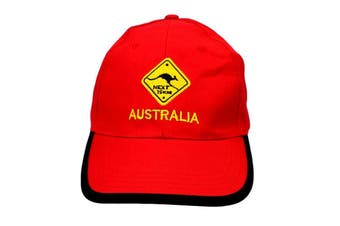 Mens Cap Unisex Hats Baseball Cotton Australia Day Australian Flag Souvenir [Design:  Road Sign Red]