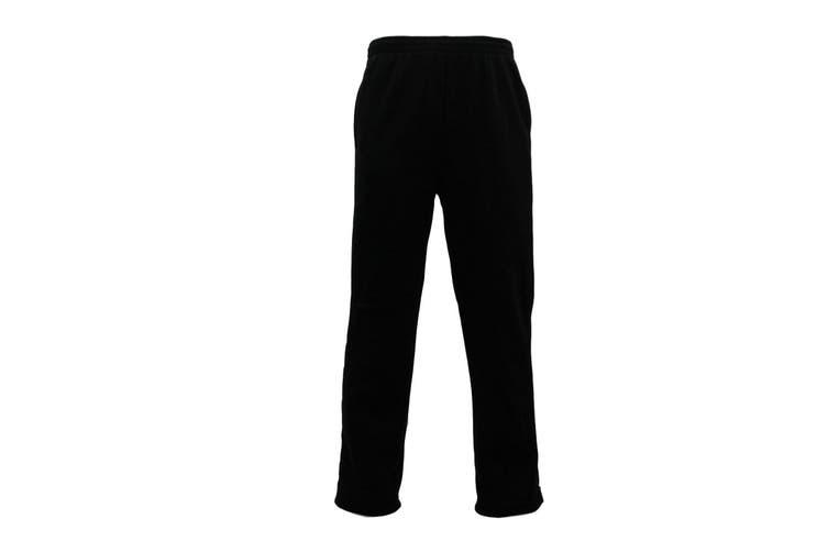 Men's Fleece Lined Track Pants Track Suit Pants Casual Winter Elastic Waist -Black [Size:2XL]