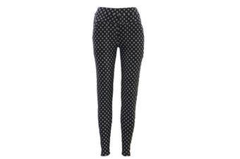 Women's Stretch Winter Slim Thermal Thick Fleece Lined Leggings Pants w Pockets - Pattern L
