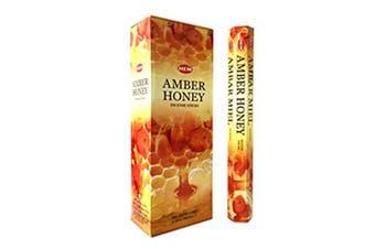 20-240 Incense Sticks HEM Nag Champa 110 Scents Hex Meditation Aroma Fragrance [Scent: Amber Honey-20 Sticks-HEM]
