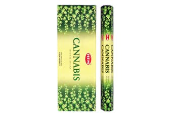 20-240 Incense Sticks HEM Nag Champa 110 Scents Hex Meditation Aroma Fragrance [Scent: Cannabis-20 Sticks-HEM]