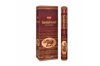 20-240 Incense Sticks HEM Nag Champa 110 Scents Hex Meditation Aroma Fragrance [Scent: Sandalwood-20 Sticks-HEM]