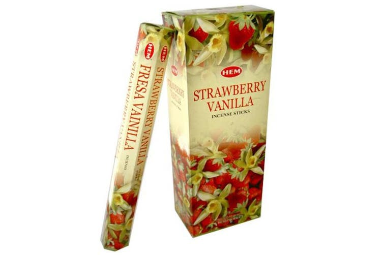 20-240 Incense Sticks HEM Nag Champa 110 Scents Hex Meditation Aroma Fragrance [Scent: Strawberry-20 Sticks-HEM]