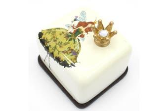 Fairy Music Musical Box Ceramic Hand Crank Kids Birthday Gift [Design: Tiara]