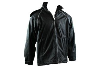 Mens Reversible/Convertible Hooded Windbreaker Windcheater Jacket Vest 4 in 1  - Black