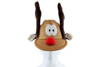 Adult Unisex Christmas Xmas Novelty Hat Party Wear - Tree Rudolf Santa [Name: Reindeer B Cap]