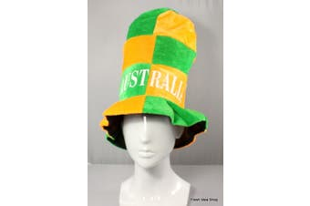 Adult Australian Australia Day Flag Souvenir Novelty Hat Party Wear Green & Gold [Name: Australia Top Hat]