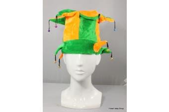 Adult Australian Australia Day Flag Souvenir Novelty Hat Party Wear Green & Gold [Name: Jester Australia]