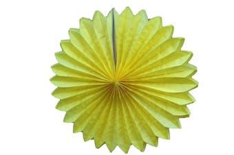 15-50 cm Fan Tissue Paper Pom Poms Party Balls Wedding Christmas Xmas Decoration [Colour: 50 cm ( 1 piece ) Yellow]