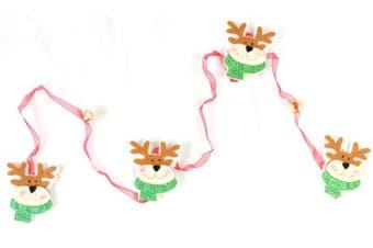 Santa Reindeer w/ Bell Christmas Xmas Tree Hanger Ornament Decor 145 cm long [Design: Reindeer]