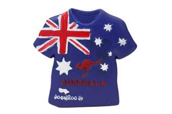 Australian Souvenir 3D Fridge Magnet Flag Koala Australia Kangaroo Gift [Design: Tshirt Flag]
