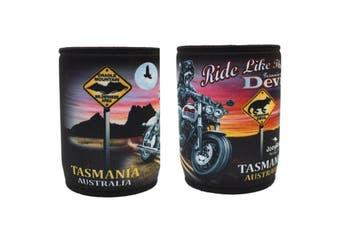 Stubby Holder Stubbie Can Beer Bottle Drink Cooler Australia Flag Funny Souvenir [Design: Travel - Tasmania B]