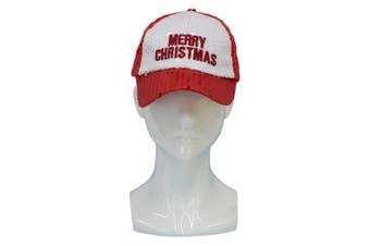 Santa Hat Costume Christmas Dress Up Unisex Adults Kids Novelty Xmas Party Cap [Design: Merry Christmas Cap]