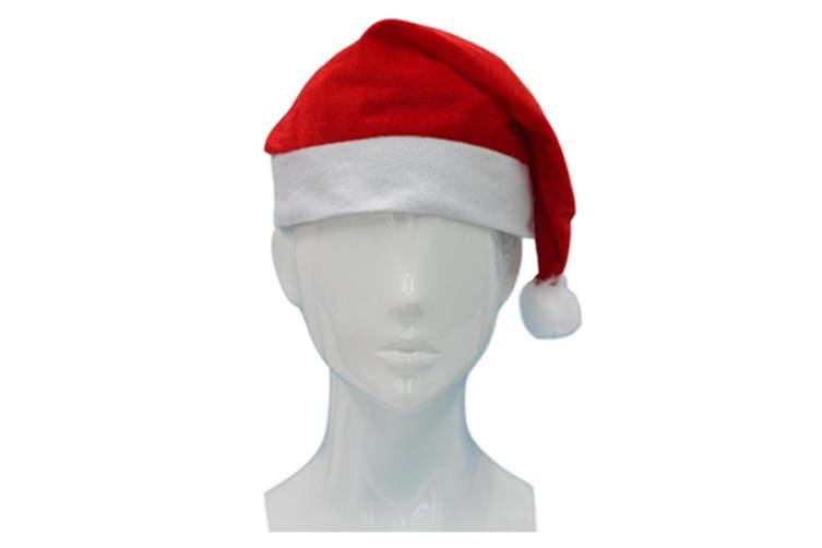 Adult Kids Santa Hat Christmas Cap Costume Xmas Party Wear Costume Claus [Design: Santa Hat A (Adults)]
