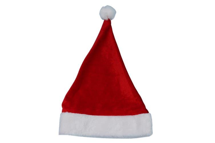Adult Kids Santa Hat Christmas Cap Costume Xmas Party Wear Costume Claus [Design: Santa Hat (Kids)]