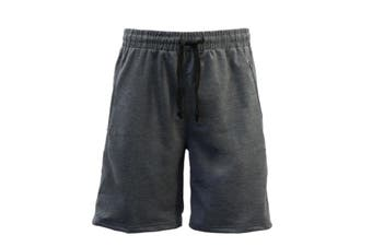 Men's Gym Sports Jogging Casual Basketball Shorts Zipped Pockets Los Angeles - Dark Grey