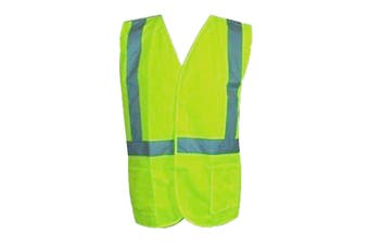 Hi-Vis Workwear Safety Vest with Reflective Tape - Lime