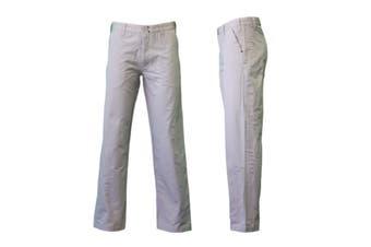 New Men's Straight Chino Pants Work Pants Trousers 100% Cotton - Khaki