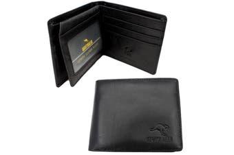Australian Souvenir Australia Mens Leather Bi-Fold wallet Genuine Leather [Design: F]